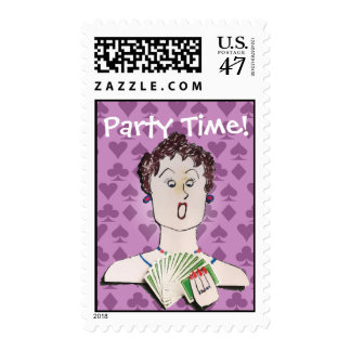 Card Party Postage Stamps