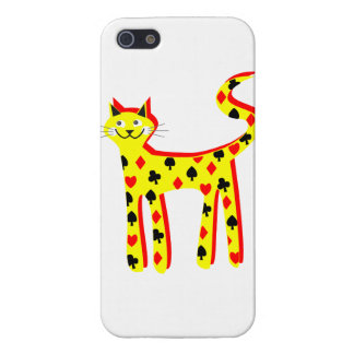 Card patteren cat covers for iPhone 5