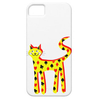 Card patteren cat iPhone 5 cover