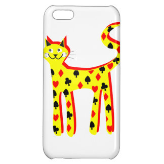 Card patteren cat iPhone 5C covers
