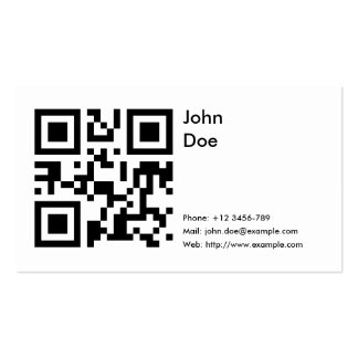 Card phone email web business card