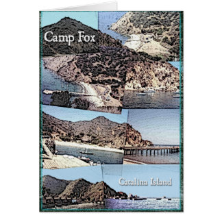 Card: Photo Collage of Camp Fox Catalina Island