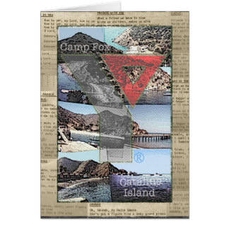 Card: Photos Camp Fox,  Song Lyrics and Y Collage