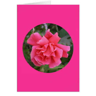 "Card, ""Pink Rose in Circle"" I-1 Card"