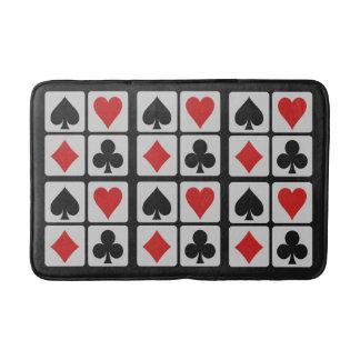 Card Player bath mats