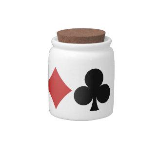 Card Player candy jar