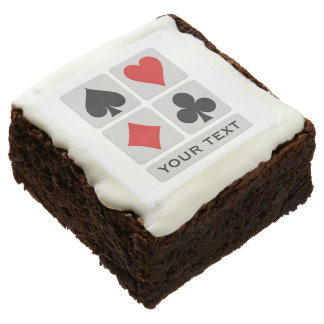 Card Player custom brownies
