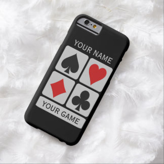 Card Player custom cases Barely There iPhone 6 Case