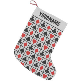 Card Player custom Christmas stocking