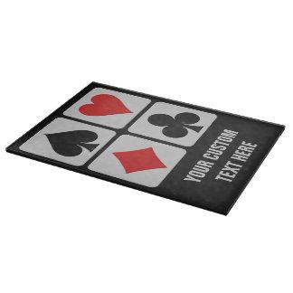Card player custom cutting boards