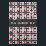 "Card Player custom hand towel<br><div class=""desc"">A great gift for a card player! Change the text field to what you want (e.g. your name and/or your game, such as 'Poker', 'Bridge', 'Canasta' etc.). You can also change the font and its size and color, as well as add more text fields and / or change the background...</div>"