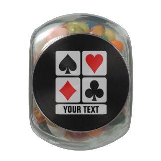 Card Player custom jars & tins Glass Candy Jar
