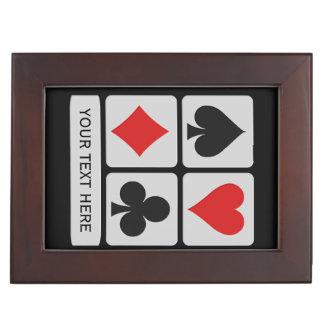 Card Player custom keepsake box