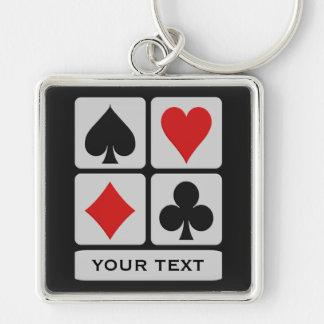 Card Player custom key chain