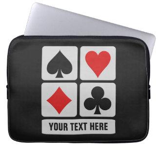 Card Player custom laptop sleeves