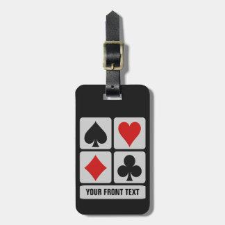 Card Player  custom luggage tag