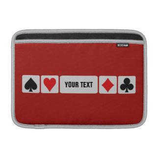 Card Player custom MacBook / iPad sleeves