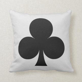 Card Player custom monogram cushion - Club