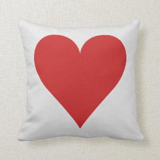Card Player custom monogram cushion - Heart