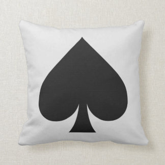 Card Player custom monogram cushion - Spade