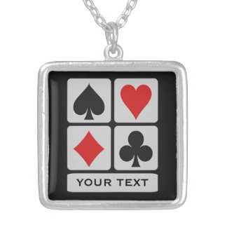 Card Player custom necklace