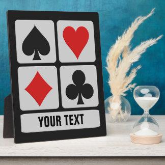 Card Player custom plaque