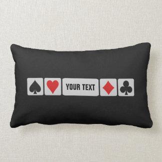 Card Player custom throw pillow