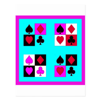 Card player in Turquoise & Fushia by Sharles