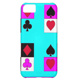 Card player in Turquoise & Fushia by Sharles Cover For iPhone 5C