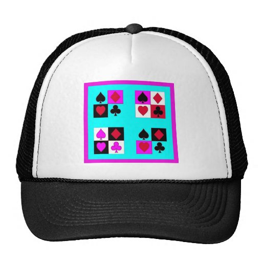 Card player in Turquoise & Fushia by Sharles Hats