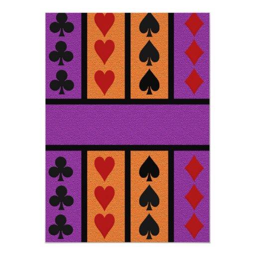 Card Player invitation, customize