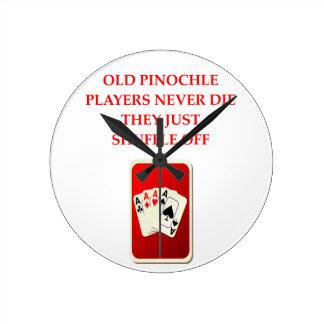 card player joke round wallclock