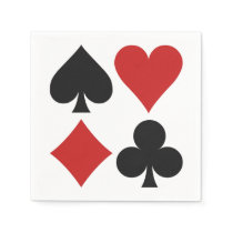 Card Player paper napkins
