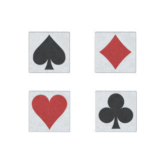 Card Player set of marble magnets Stone Magnet