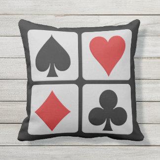 Card Player throw pillows