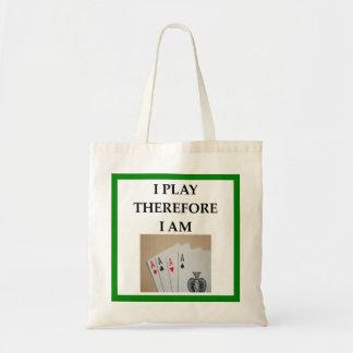 card player tote bag