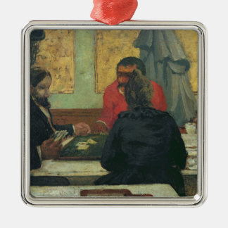 Card Players, 1883 Metal Ornament