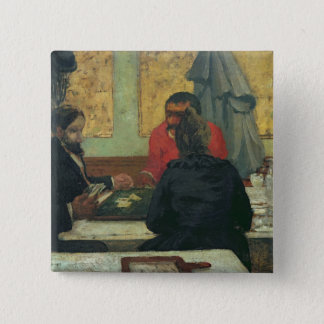Card Players, 1883 Pinback Button