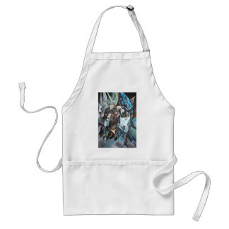 Card Players and Poker Faces Adult Apron