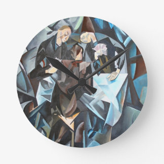Card Players and Poker Faces Wall Clocks