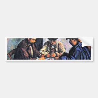 Card Players By Paul Cézanne (Best Quality) Car Bumper Sticker