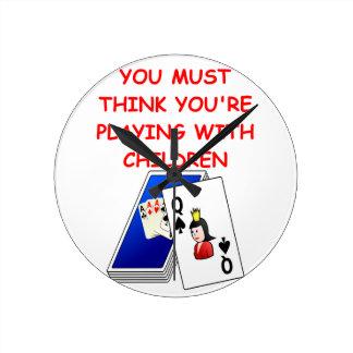 card players round wallclock