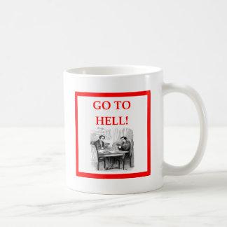 card players coffee mug