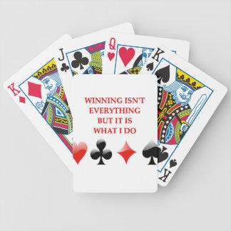 card players joke bicycle card decks