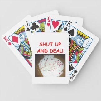 card players joke bicycle poker cards
