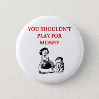 card players joke button