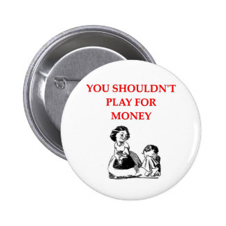 card players joke 2 inch round button