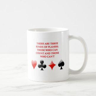 card players joke coffee mug