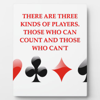 card players joke photo plaques