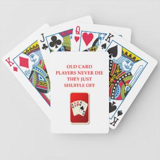 card players joke bicycle card deck